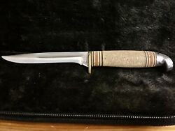 Western Usa Knife Bird And Trout 1948-53 Hunting Fishing Boulder Co. Vintage