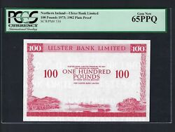 Northern Ireland 100 Pounds 1973-1982 P330p Proof Uncirculated