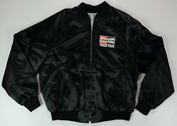 Rare Vintage King Louie Champion Truck Plug Spell Out Satin Jacket 70s 80s 2xl