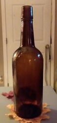 Antique Pre Prohibition H.b. Kirk Old Crow Amber Whiskey Bottle..nice