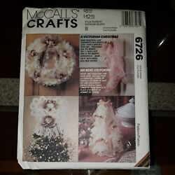 Mccalls Crafts Victorian Christmas Decorations Pattern 6726