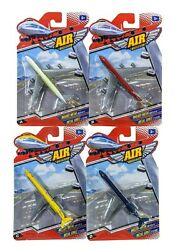 Air Power Die-cast Metal And Plastic Airplane Toy, Lot Of 4 Airplanes, Ages 3+