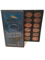 Sea World Elongated Pressed Penny First Edition Souvenir Album Book W/37coins