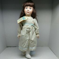 1984 Gorham Golden Gifts Collectible Musical Porcelain Doll I Will Wait For You