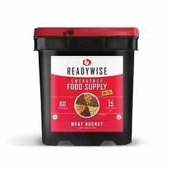 60 Serving Freeze Dried Meat Bucket + 20 Servings Of Rice Survival Food Supply