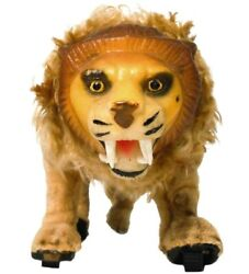 Rare Louis Marx And Co Ny Early 20th C Vint Wind-up Cloth Cvrd Lion Mech Toy W/key
