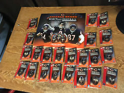 Chicago Bears Mini Player Football Collection Sun-times Super Bowl Xli Complete