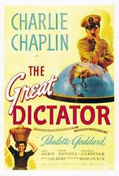 The Great Dictator 35mm Bandw Feature Charles Chaplin 1940 Classic Nice Print