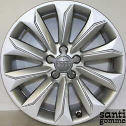 4 Rims Alloy 8 X 18 Audi A4 To Road Original Used 8k9601025a Silver