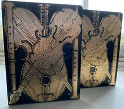 Rare Vintage Pair Of Fornasetti And039strumenti Musicaliand039 Bookends Pair 1