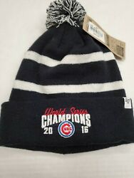 Nwt Chicago Cubs 2016 World Series Champions Winter Pom Hat Cap New