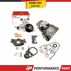 Timing Chain Kit Timing Cover Water Pump Oil Pump 07-14 Gm Chevrolet 5.3 6.0 6.2