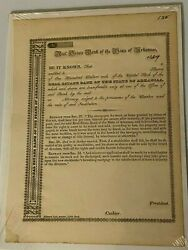 Original Real Estate Unissued Bank Of The State Of Arkansas Stock Certificate