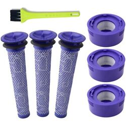 10x6 Pack Vacuum Filter Replacement Kit For Dyson Dyson V8+