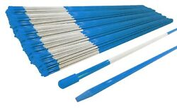 Pack Of 3000 Blue Landscape Rods 48 Long 5/16 Diameter With Reflective Tape