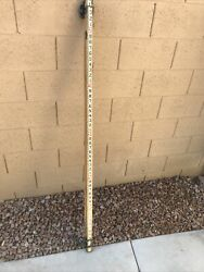 Wood 15ft Grade Rod/level Staff/survey Pole Collapsible