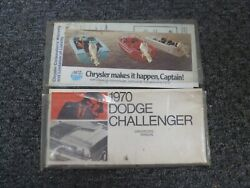 1970 Dodge Challenger Coupe Convertible Owner Operator Manual Set R/t Original