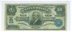 1908 10 Tombstone United States Large Silver Certificate Tough Fr 303 Vf
