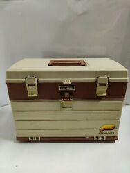 Vintage Plano Model 757 Tackle Box 4 Drawers Fishing Gear Large Plastic Case