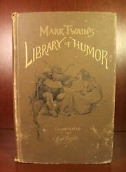 Mark Twain Library Of Humor 1888 First Edition