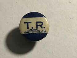 1904 Teddy Theodore Roosevelt Tr Stud Campaign Pinback Button Badge Political