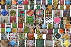 Assorted 200-pc Cotton Kantha Indian-art Handmade Pillow Cushion Cover Bed Decor