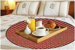 Dream Care Printed Waterproof And Oilproof Round Bed Server/food Mat-08y