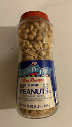 Vintage 1970s County Fair Dry Roasted Nuts Jar Nos Full Unopened Sealed 1 Lb