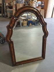 Hickory White Furniture Wood Arched Top Beveled Mirror Free In Home S/h Most Usa