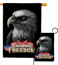 Enduring Freedom Garden Flag Star And Stripes Patriotic Gift Yard House Banner