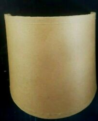 Oiled Parchment Tan Lake Shore Wall Sconce Half Shade Lamp 4.5 X 4.5 X 4.5