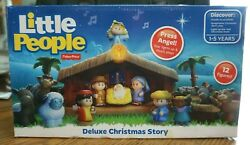 Fisher Price Little People Deluxe Christmas Story - Nib - Unopened