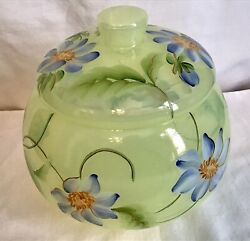 Fenton Frances Burton Signed Limited Edition Candy Dish With The Lid