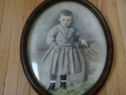 Fine Antique Pastel Painting Of Young Girl By William Matthew Prior C.1840's