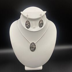 Haida Sterling Silver Hummingbird Pendant And Earrings Set By James Mcguire