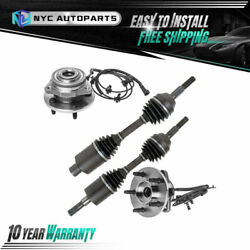 4pc Front Cv Axle Shafts + Wheel Hub Bearing For 2002-2007 Jeep Liberty V6 W/abs