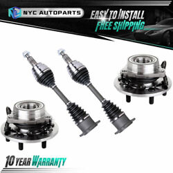 4pc Front Cv Axle And Front Wheel Hub Bearing For 95-00 Chevy K1500 Tahoe Yukon