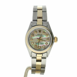Rolex Oyster Perpetual 26 6614 Mother-of-pearl Dial Womenand039s Automatic Watch