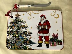 Williams Sonoma Twas The Night Before Christmas Cheese Board W/knife