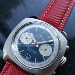Mens Wittnauer Professional Chrono-date 41mm Hand-wind C.1970s Vintage Mx92red