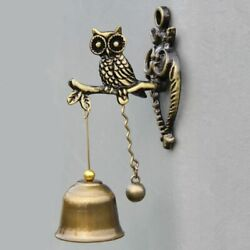 Vintage Iron Bell Wind Chime Retro Owl Horse Doorbell Wall Rustic Decoration New