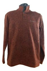Menand039s Eddie Bauer Radiator Fleece Tightly Knit Snap-front Pullover Jacket