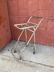 1930s Folding Antique Shiner Texas Grocery Cart Industrial Laundry Room Garden