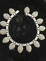 Vintage Peruvian Sterling Silver Necklace Rare And Beautiful By Welsch Signed