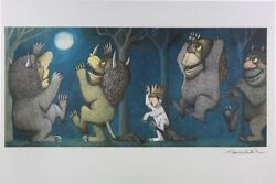 Maurice Sendak Where The Wild Things Are Original Signed Poster