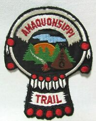Vtg Boy Scouts Bsa Amaquonsippi Trail Patch Camp Lowden Bradford Illinois Nos B