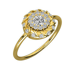 Stack Diamond Ring Band On Tiny 14k Or 18k Solid Gold Women Gift Rings 0.45 Ct