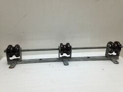 Vintage Ceramic Porcelain Brown Telephone Power Insulator Wire Guide Wheels 3