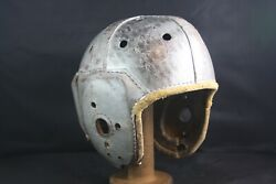 Antique Vtg 40s Rawlings A11 X Detroit Lions Style Leather Football Helmet 7 1/8