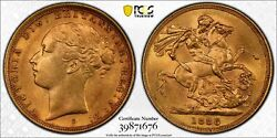 1886s Sovereign St. George Reverse Mcd170 S-3858e In Pcgs Au58
